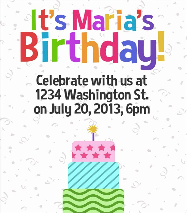 Birthday Party Template Word New 17 Amazing Sample Birthday Flyer Templates to Download