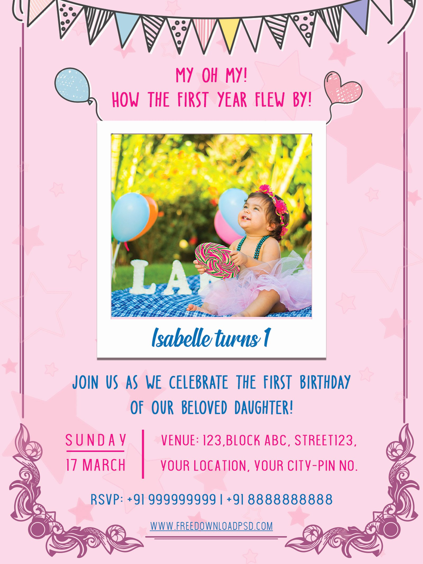 Birthday Party Template Word New Birthday Party Invitation Psd Flyer