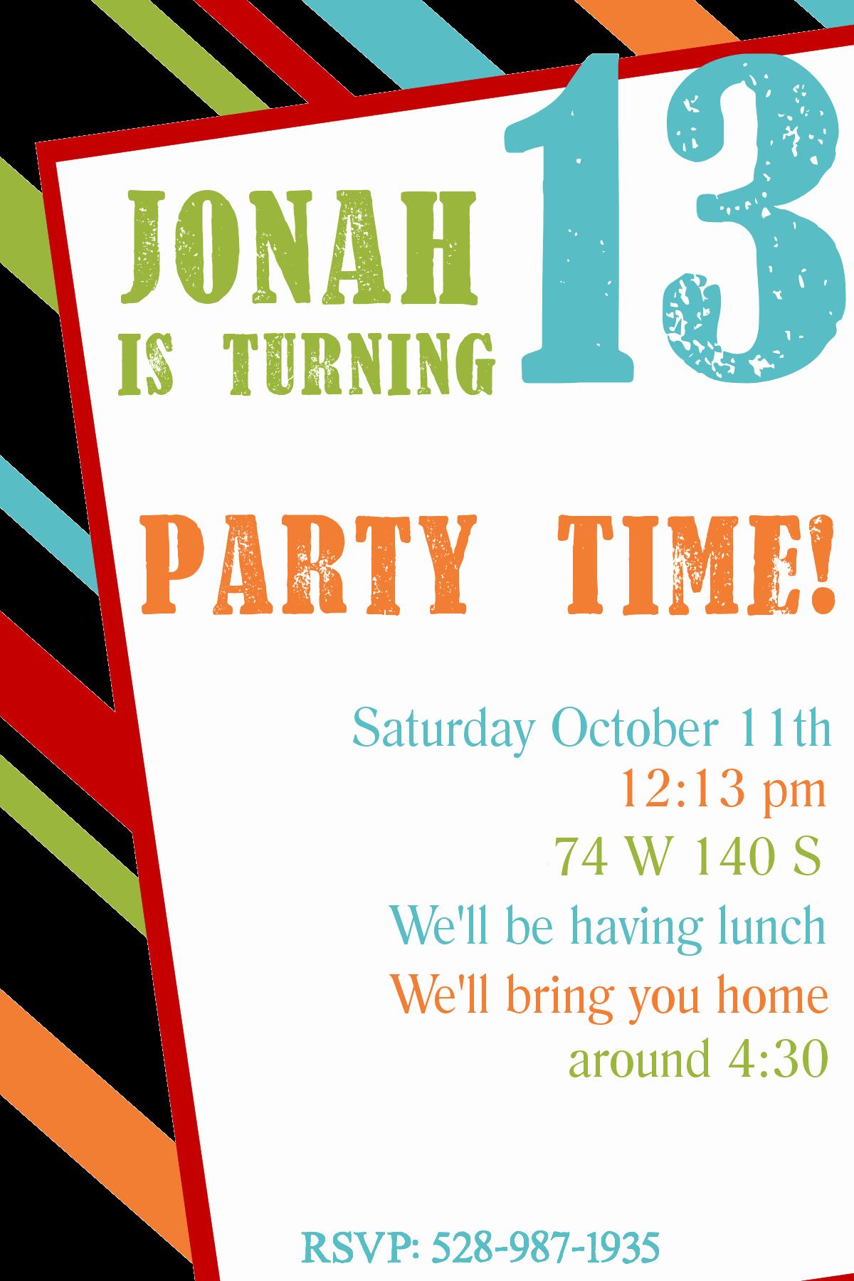 Birthday Party Template Word New Free Printable Birthday Invitation Templates