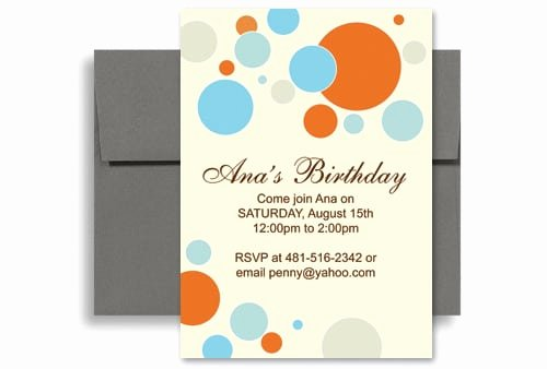 Birthday Party Template Word Unique Word Birthday Party Invitation Template