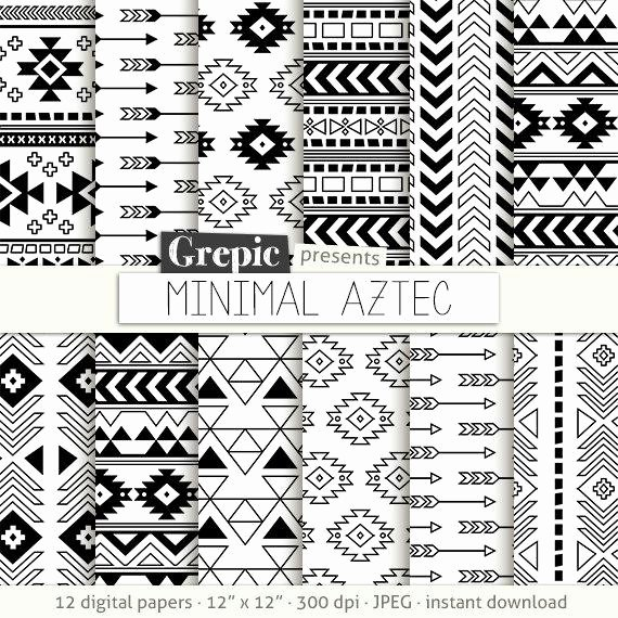 Black and White Designs Art Awesome Aztec Digital Paper Minimal Aztec Aztec Patterns
