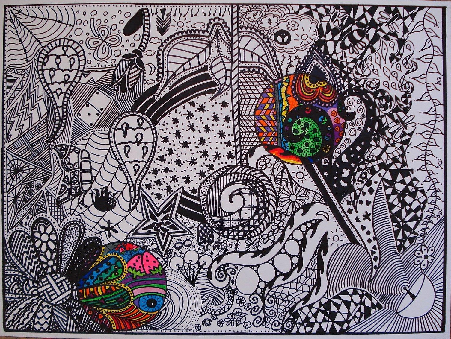 Black and White Designs Art Elegant Art Sub Lessons Black and White Doodle Design