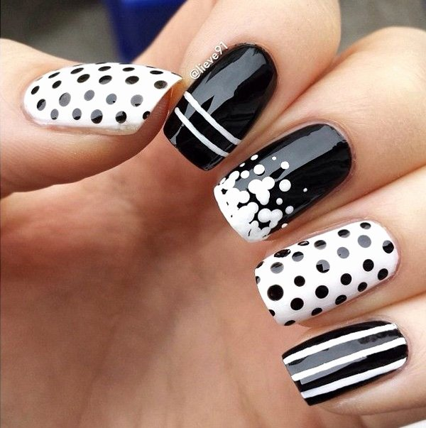 Black and White Designs Art Lovely 55 Black and White Nail Art Designs Nenuno Creative