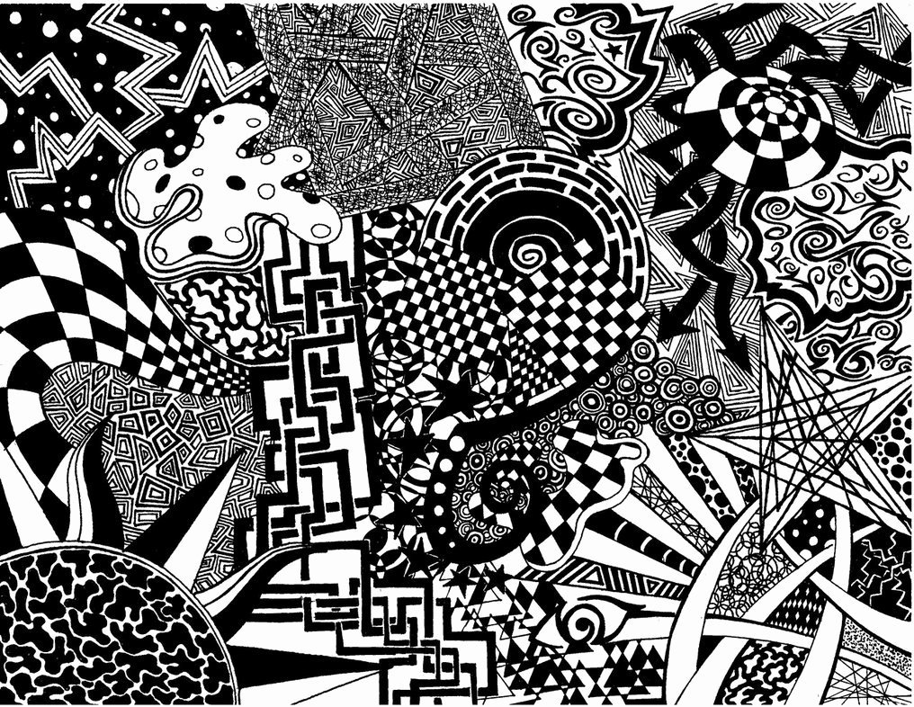 Black and White Designs Art New Chaos Pattern by Rastarider87 On Deviantart