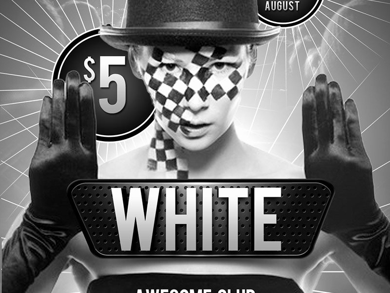 Black and White Flyer Design Beautiful Black and White Club Free Psd Flyer Template