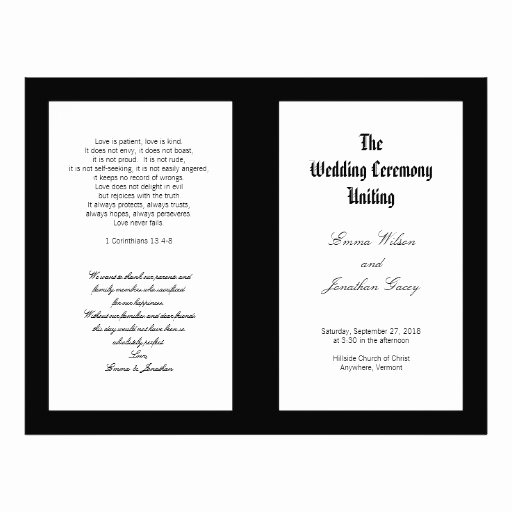 Black and White Flyer Design Best Of Black and White Folded Wedding Ceremony Template Flyer