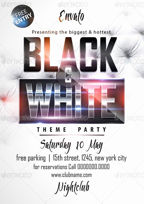 Black and White Flyer Design Elegant Black & White Affair Flyer Template Download Luxury