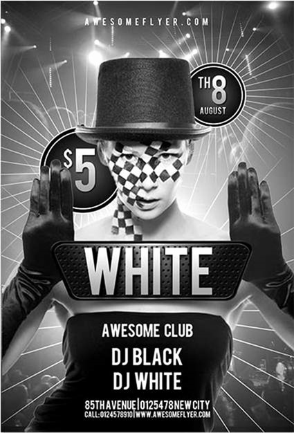 Black and White Flyer Design Fresh 30 Awesome Free Flyer Design Templates