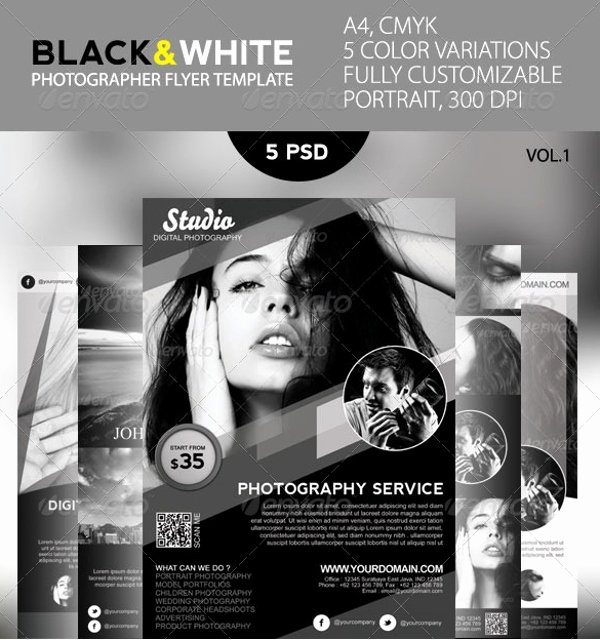 Black and White Flyer Design Fresh Black and White Flyer Template 21 Download In Vector Psd