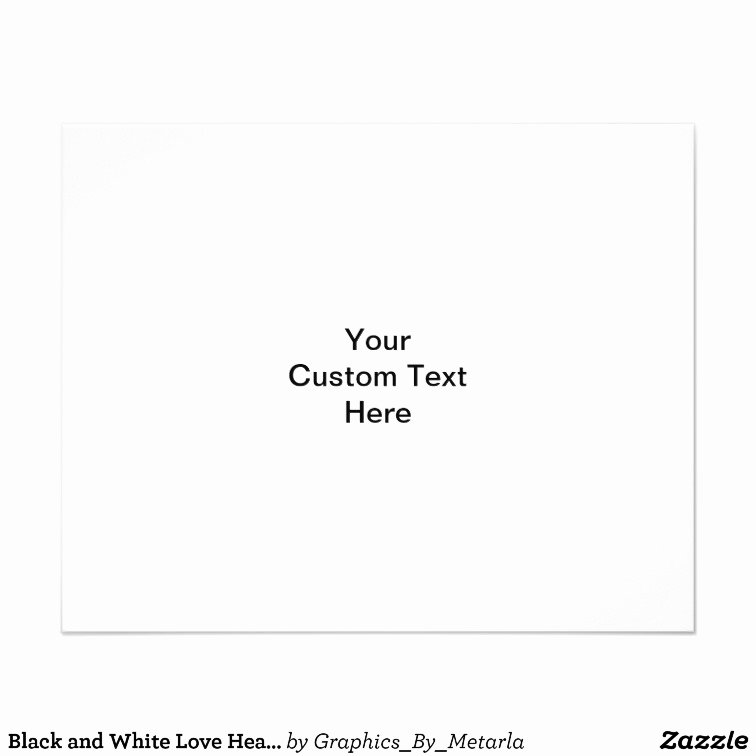 Black and White Flyer Design Inspirational Black and White Love Heart Design Flyer