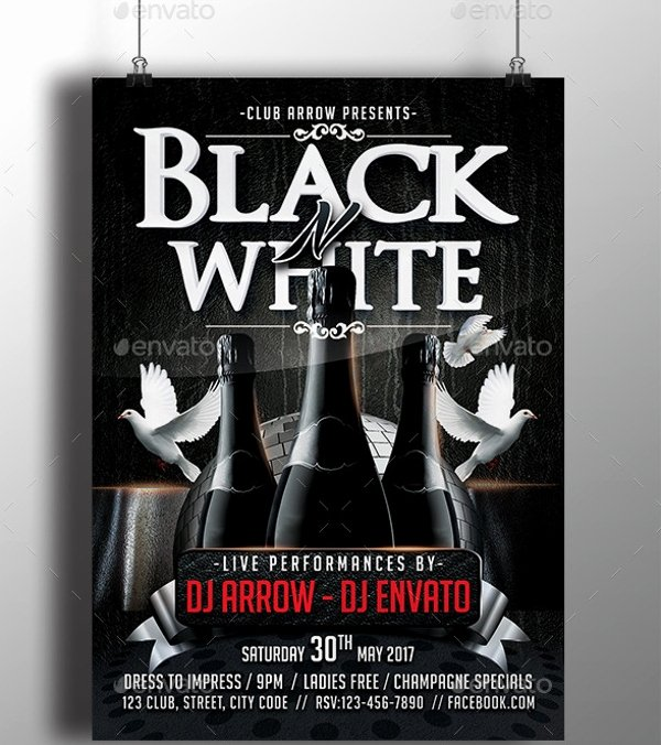 Black and White Flyer Design Lovely Black and White Flyer Template 21 Download In Vector Psd