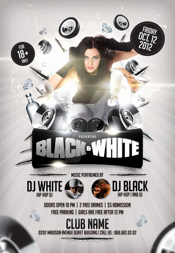 Black and White Flyer Design New Black and White Flyer Template by Whitescale On Deviantart