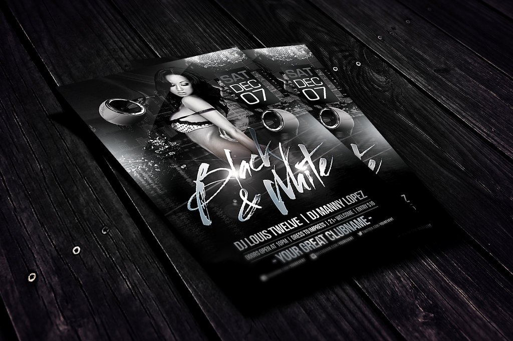 Black and White Flyer Design Unique Black and White Flyer Template by Louistwelve Design On