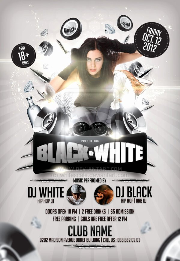 Black and White Flyer Design Unique Black and White Flyer Template by Whitescale On Deviantart