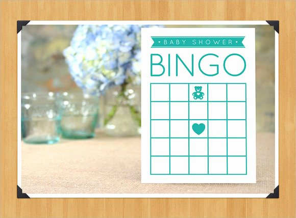 Blank Baby Shower Template Beautiful Blank Bingo Template 9 Download Free Documents In Pdf