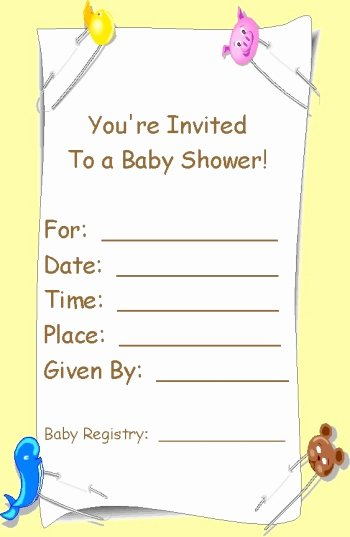 Blank Baby Shower Template Best Of Free Printable Babyshower Invitation