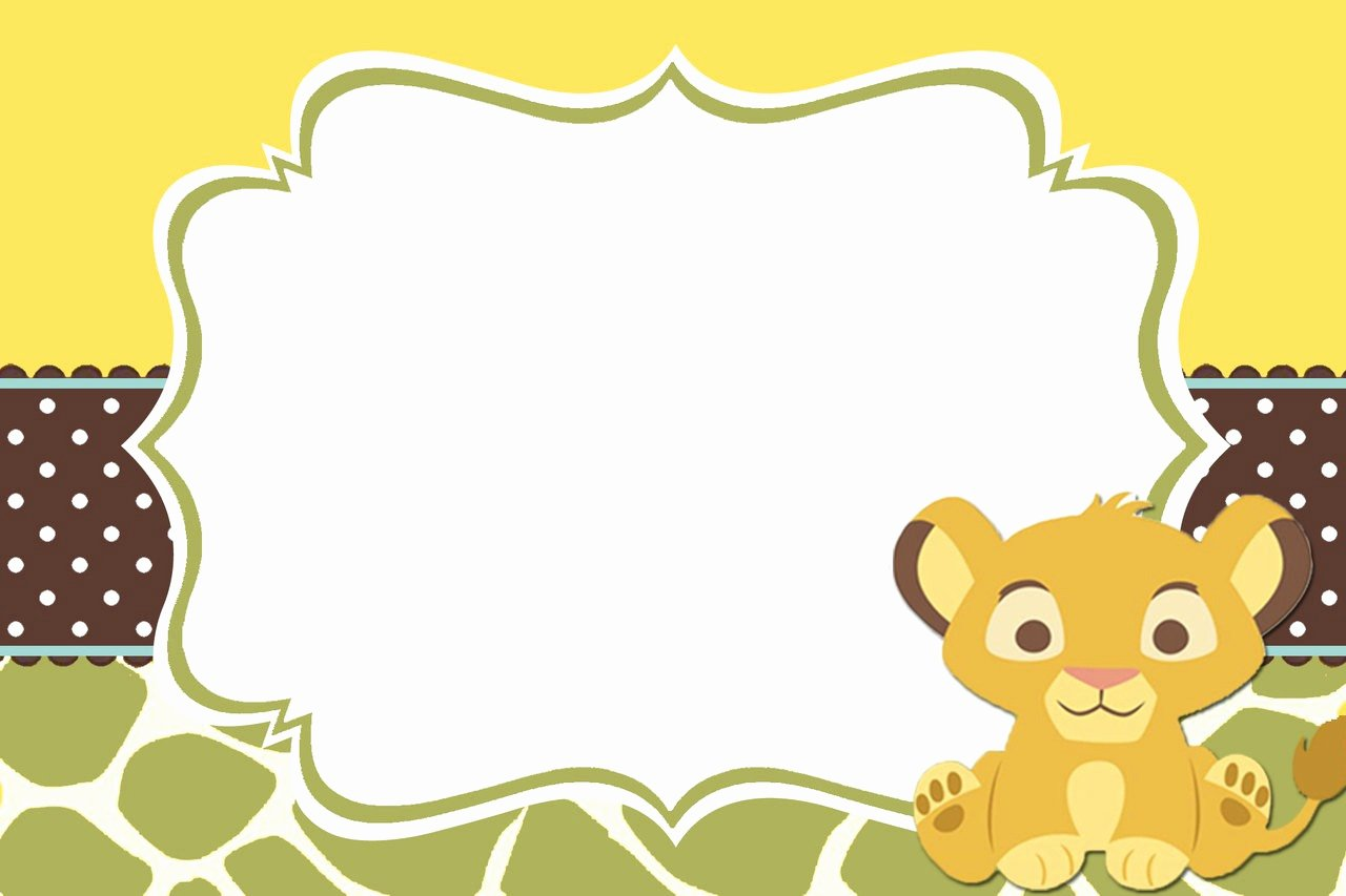 Blank Baby Shower Template Fresh Baby Lion King Shower and Mini Diaper Cake Table