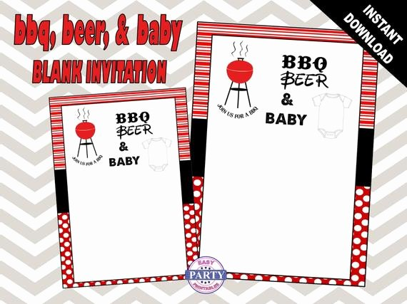 Blank Baby Shower Template Fresh Items Similar to Bbq and Beer Blank Invitation Template