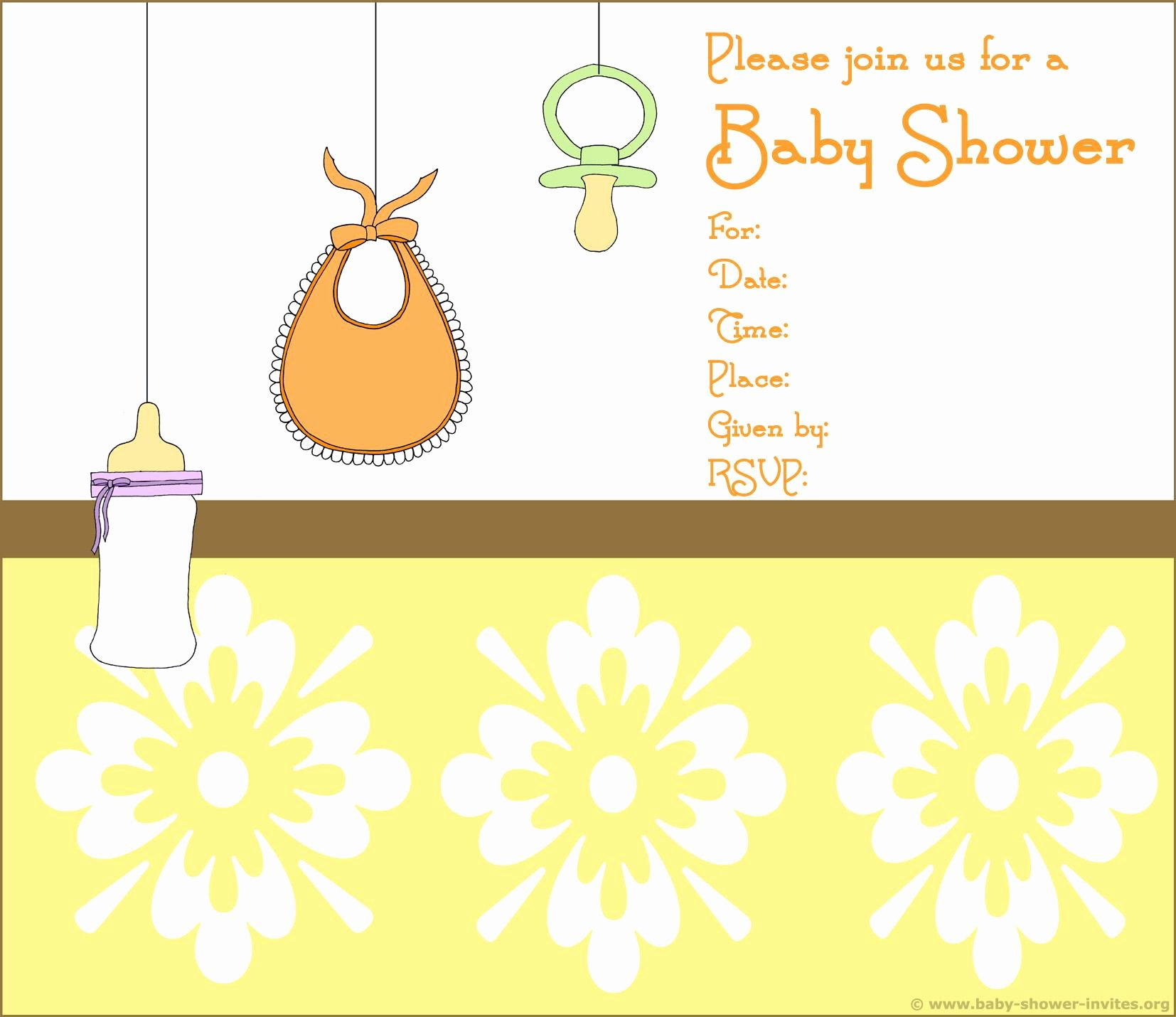 Blank Baby Shower Template Inspirational Birthday Invitation Blank Invitation Cards Superb