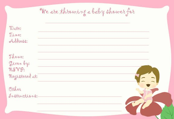 Blank Baby Shower Template Inspirational Free Printable Baby Shower Flyers Template