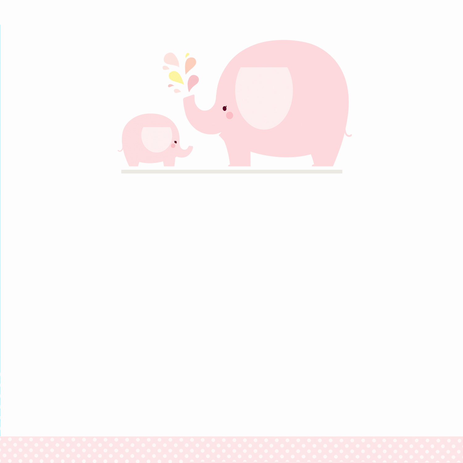 Blank Baby Shower Template Luxury Pink Baby Elephant Free Printable Baby Shower Invitation