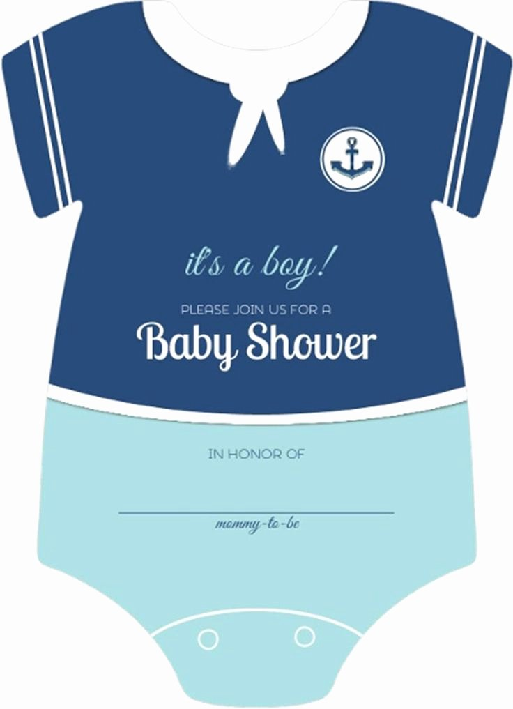Blank Baby Shower Template Unique Sailor Esie Boys Nautical themed Fill In Blank Baby