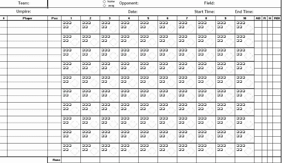 Blank Baseball Lineup Card Unique Blank softball Lineup Sheets – Konfor