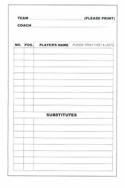 Blank Baseball Lineup Card Unique Depth Chart Template – Stagingusasportfo