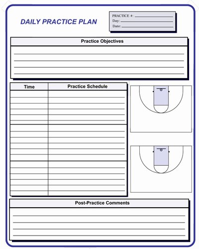 Blank Basketball Practice Plan Template Inspirational Basketball Coaching forms