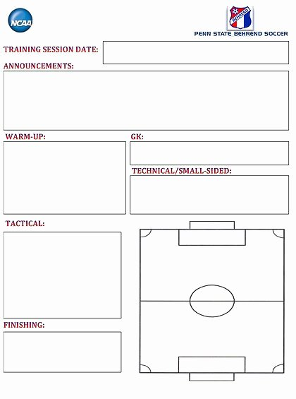Blank Basketball Practice Plan Template New soccer Lesson Plan Template – High School Basketball