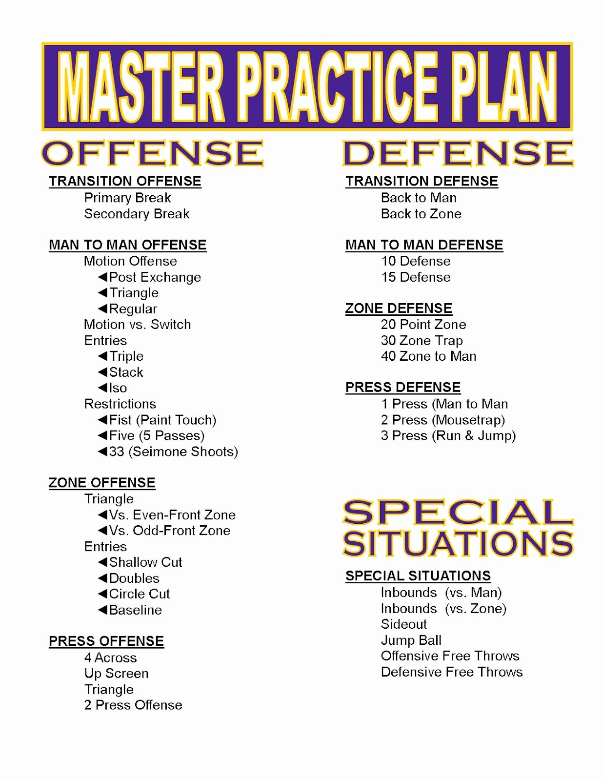 Blank Basketball Practice Plan Template Unique 30 Of College Football Practice Plan Template