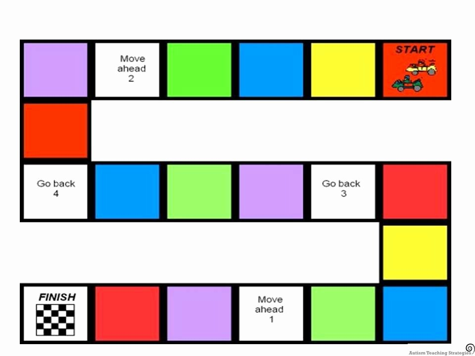 Blank Board Game Template Awesome Blank Board for social Skills Board Game Could Fill In