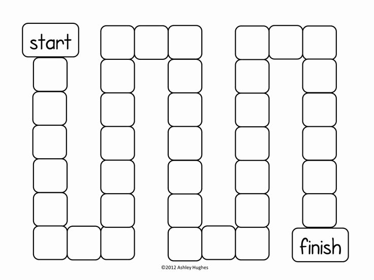 Blank Board Game Template Fresh Blank Board Game Template Printable Gameboards