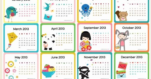 Blank Calendar for Kids Awesome Free Printable 2013 Calendar for Kids Parenting Times