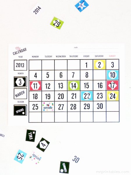 Blank Calendar for Kids Best Of Printable Blank Calendars Mr Printables