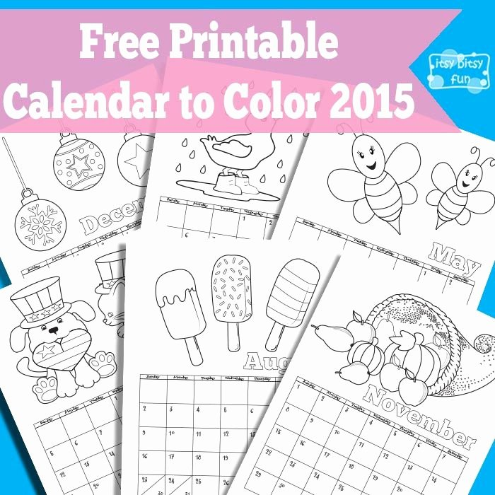 Blank Calendar for Kids Best Of Printable Calendar for Kids 2018