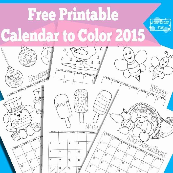 Blank Calendar for Kids Best Of Printable Calendar for Kids 2018