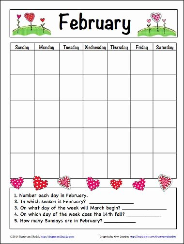 Blank Calendar for Kids Fresh In the Classroom Calendar Printable and Kindergarten On