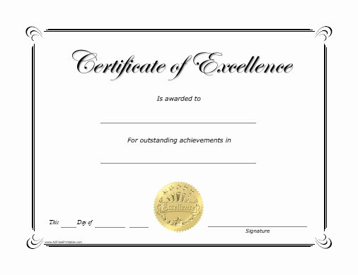 Blank Certificates to Print Awesome Certificate Printable