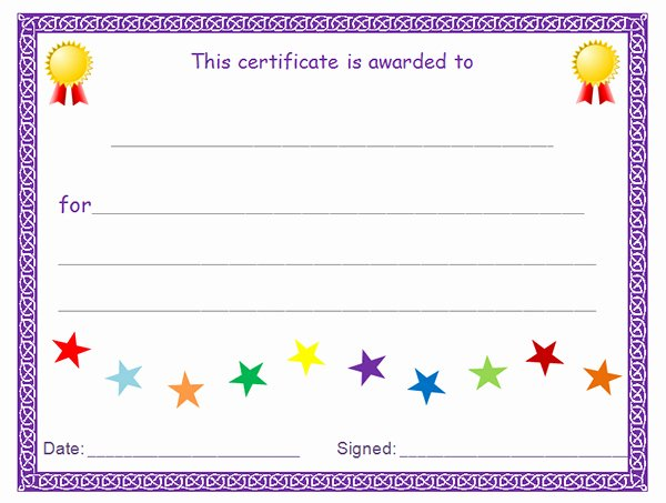 Blank Certificates to Print Beautiful Printable Award Certificate Templates