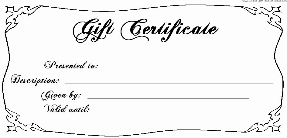 Blank Certificates to Print Best Of Blank Gift Certificates to Print