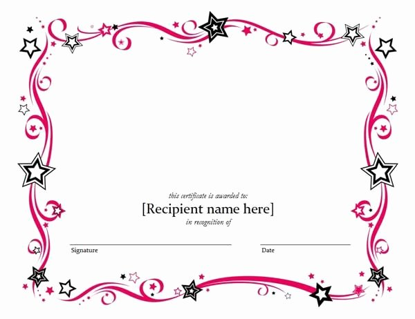 Blank Certificates to Print Elegant Blank Certificate Templates Kiddo Shelter