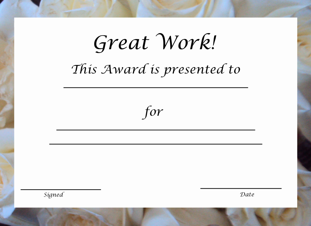 Blank Certificates to Print Fresh Free Printable Award Certificate Template
