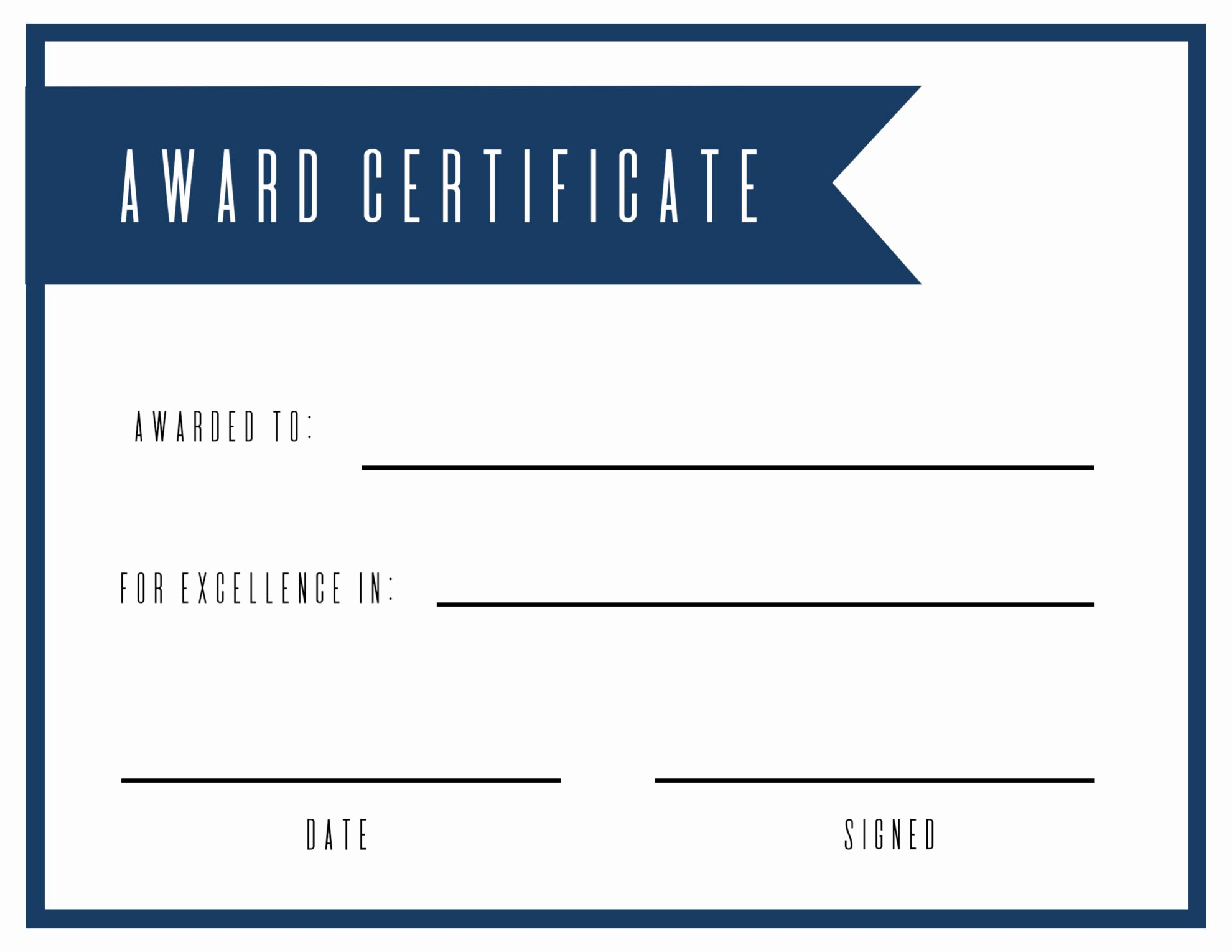 Blank Certificates to Print Luxury Free Printable Award Certificate Template Paper Trail Design