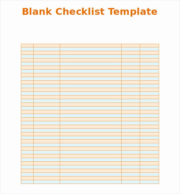 Blank Check Template Word Lovely Blank Checklist Template 36 Free Psd Vector Eps Ai