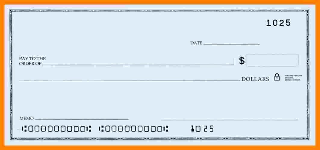 Blank Check Template Word Unique 6 Blank Payroll Checks