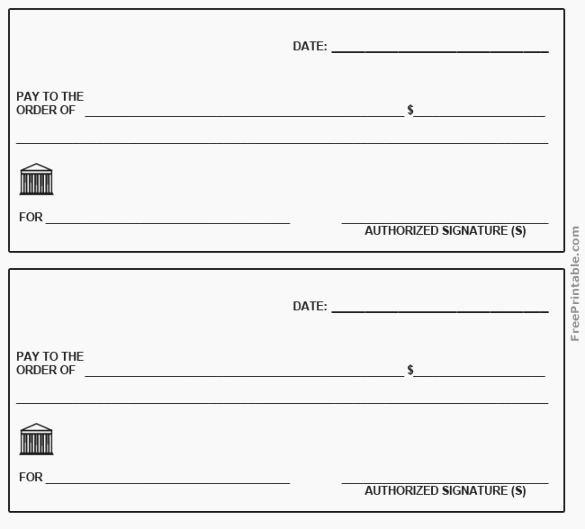 Blank Checks for Kids Best Of 39 Striking Printable Checks for Kids