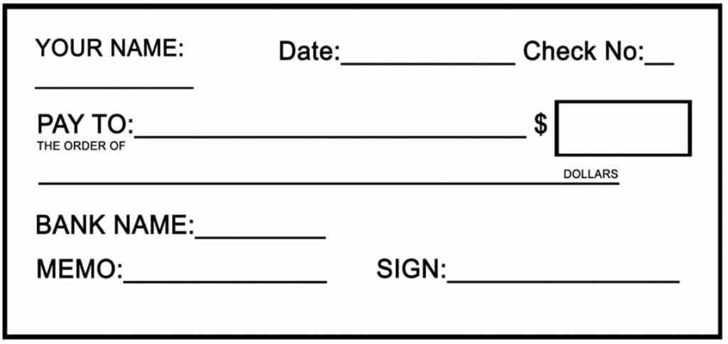 Blank Checks for Kids Best Of Fake Cheque Template Template Update234 Template