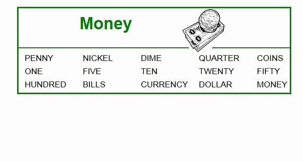 Blank Checks for Kids Elegant Money Word Search Printable for Kids