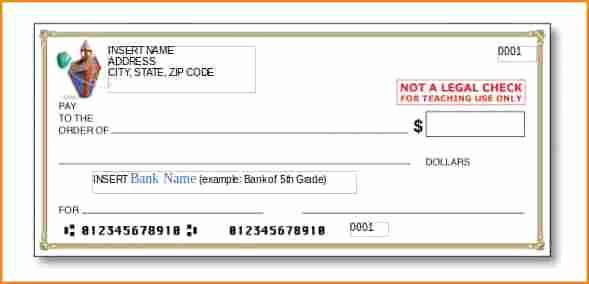 Blank Checks for Kids Lovely 5 Paycheck Template
